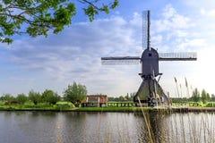 Unesco world heritage windmills Royalty Free Stock Image