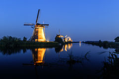 Unesco world heritage windmills Royalty Free Stock Image