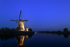 Unesco world heritage windmills Stock Photo