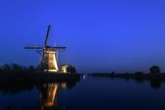 Unesco world heritage windmills Stock Photo