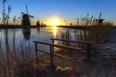 Unesco world heritage windmills Stock Photography
