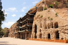 UNESCO Yungang Grottoes Buddhist caves, China Stock Images