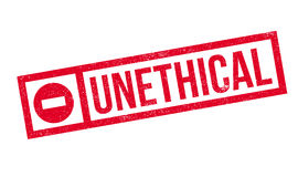Unethical rubber stamp Stock Images