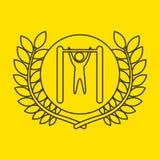 Uneven bar sportsman flag background design Stock Images