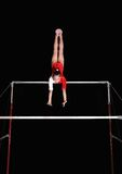 Uneven bars stock photo
