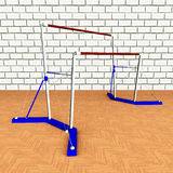 Uneven Bars Stock Photography