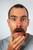 Uneven moustache surprise Stock Photo