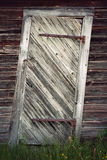 Uneven old wooden door Royalty Free Stock Photos