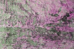 Uneven paint on the wall. With abstract pattern with pink color royalty free stock photos