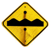 Uneven road sign Royalty Free Stock Image