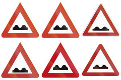 Uneven Road Signs In Germany Stock Image