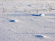 Uneven snow surface Stock Images