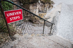 Uneven Steps Stock Photography