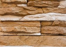 Uneven stone wall background Royalty Free Stock Photography