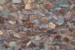 Uneven stone wall texture Royalty Free Stock Photography