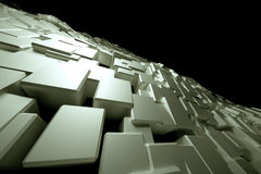 Blocky white surface Royalty Free Stock Image
