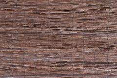 Uneven texture from wooden rods Stock Photo