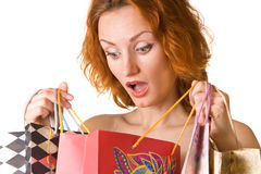 Unexpected shopping Stock Image