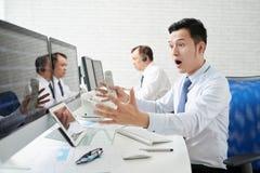 Unexpected stock market collapse Stock Photo