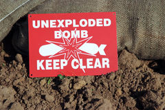 Unexploded Royalty Free Stock Images