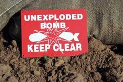 unexploded Στοκ εικόνες με δικαίωμα ελεύθερης χρήσης