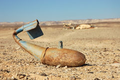 Unexploded bomb. Stock Image