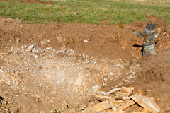 Unexploded ordnance from multiple rocket launchers Royalty Free Stock Photography