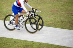 Unfair Advantage (two bicycles for one) Royalty Free Stock Images