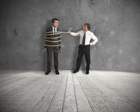 Unfair competition in business. Concept of unfair competition in business Stock Images