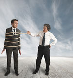 Unfair competition in business royalty free stock photo