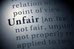 Unfair Royalty Free Stock Image