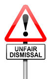 Unfair dismissal concept. Illustration depicting a road traffic sign with an unfair dismissal cost concept. White background Royalty Free Stock Images