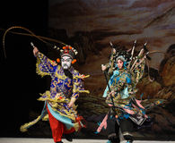 "Unfair duel- Beijing Opera"" Women Generals of Yang Family"" Royalty Free Stock Photos"