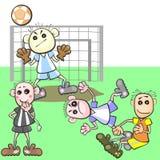 Unfair football play Stock Photo