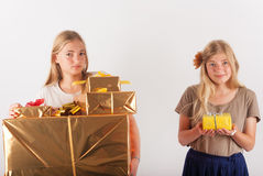 Unfair gifts Royalty Free Stock Photos