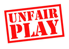UNFAIR PLAY. Red Rubber Stamp over a white background Stock Photos