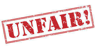 Unfair! stamp. Unfair! red stamp on white background Stock Image