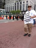 Unfair Trade Policies, Corporate Agenda, Labor Day Parade, NYC, NY, USA stock photography