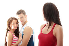 Unfaithful boyfriend Stock Photos