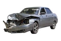 Unfall auf der Straße, lokalisiert auf weißem Hintergrund Stockfotos