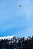 Unfall auf Ski World Cup Lizenzfreie Stockbilder