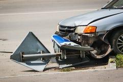 Unfall in der Stadt auf der Straße Lizenzfreies Stockfoto