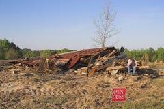 Unfall-Haus Stockbild