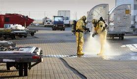 Unfall mit Chemikalien Stockfoto
