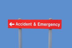Unfall- und Notzeichen Stockfotografie