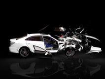 Unfallauto stock abbildung