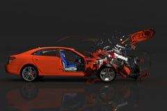 Unfallauto vektor abbildung