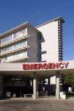 Unfallstation-Eingang an einem Krankenhaus Stockfotografie