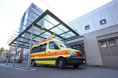Unfallstationseingang des Krankenhauses Stockfotos