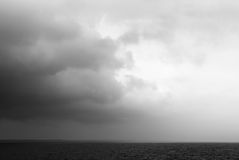 Unfavourable weather on the sea. Odessa, Ukraine Royalty Free Stock Photography